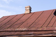 Old iron roof Stock Photography