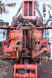 Old Iron Roughneck - Equipment on Drilling Rig Royalty Free Stock Photography