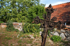 Old Iron Rusted Cross Stock Photography