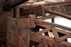 Old iron rusted metal beam royalty free stock photo
