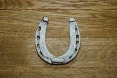 Old iron rusty metal horseshoe Royalty Free Stock Images