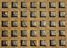 Old iron rusty squared hatch Stock Photography