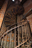 Old iron spiral staircase Stock Photography
