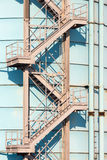 Old iron stairs Royalty Free Stock Photo