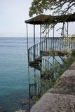Old Iron Stairway in Corfu, Greece Royalty Free Stock Photography