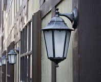 Old iron street lantern Royalty Free Stock Image