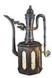 The old iron tea pot. Isolated on white background Royalty Free Stock Photos