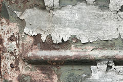 Old iron texture with cracked paint Royalty Free Stock Image