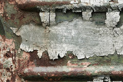Old iron texture with cracked paint Royalty Free Stock Photo