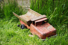Old iron toy car Stock Images