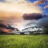 Old iron truss bridge Royalty Free Stock Photo