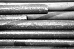 Old iron tube background. Show background texture concept Stock Photos
