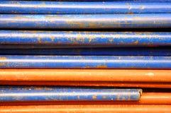Old iron tube background. Show texture background Stock Image