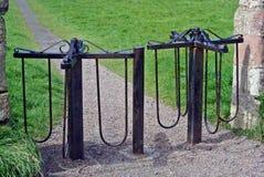 Old iron turnstiles Stock Image