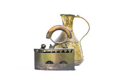Old iron and water pot still nature Royalty Free Stock Photography