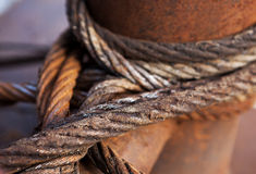 Old iron wire close up Royalty Free Stock Image