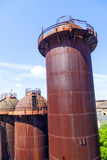 Old iron works monuments Stock Photos