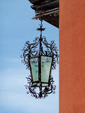 Old iron woven lantern in the city of Orta San Giulio, northern Italy Royalty Free Stock Photo