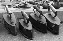 Old irons in the grey. Stock Photos