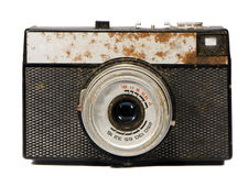 Old isolated analogical camera Stock Images