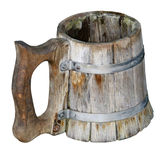 Old Isolated handmade beer mug Royalty Free Stock Photography