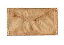 Old isolated mailer. Old grunge isolated mailer on white background Stock Photo