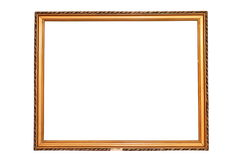 Old isolated painting frame Stock Images