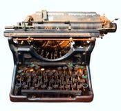 Old isolated typewriter Royalty Free Stock Image