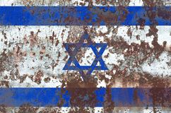 Old Israel grunge background flag.  stock image