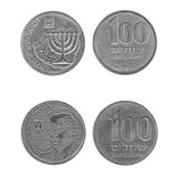 Old Israeli coins Royalty Free Stock Photos