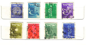 Old Israeli stamps Royalty Free Stock Photo