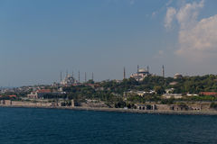 Old Istanbul Skyline in Turkey. Taken from a cruise ship, this is the Older Skyline of Istanbul Royalty Free Stock Photo