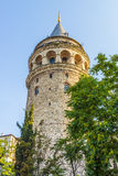 Old Istanbul Tower galata- symbol of the city Turkey Royalty Free Stock Photos