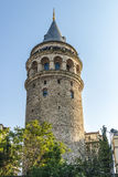 Old Istanbul Tower galata- symbol of the city Turkey Stock Images