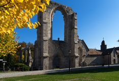 The old istercian monastery Walkenried with the museum in Lower Saxony in Germany. In autumn royalty free stock photos