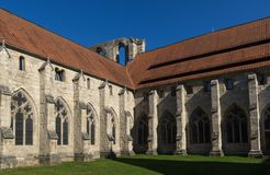 The old istercian monastery Walkenried with the museum in Lower Saxony in Germany. In autumn stock images