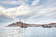 Old Istrian town of Rovinj or Rovigno in Croatia Royalty Free Stock Photos