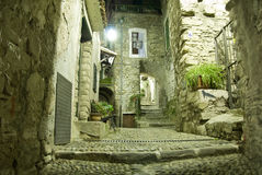 Old Italian alleyway at night Royalty Free Stock Photo