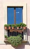 Old italian balcony Stock Image