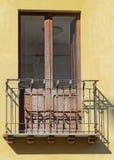 Old italian balcony. Royalty Free Stock Photos