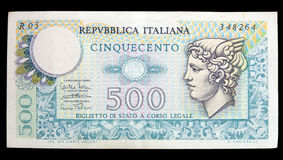 Old italian banknote Royalty Free Stock Image