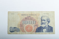 Old Italian banknotes, money Stock Photos