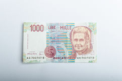 Old Italian banknotes, money Stock Photos