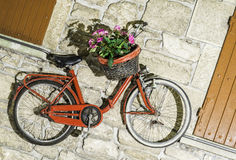 Old Italian bicycle royalty free stock photo