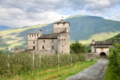 Old italian castle Stock Photos