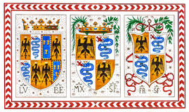 Old Italian coat of arms of the knight order, Milan, Italy Stock Photos