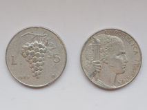 Old Italian coins Royalty Free Stock Images