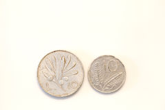 Old Italian Coins Royalty Free Stock Photo