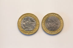 Old Italian Coins Stock Photo