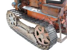 Old italian crawler tractor Royalty Free Stock Photo